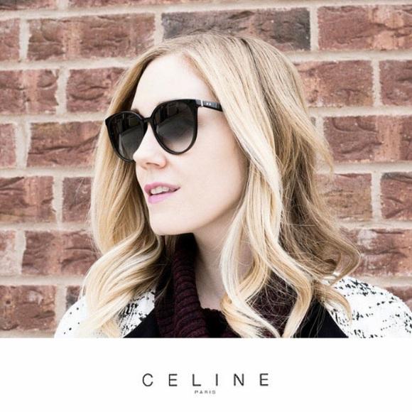 65d7cb876e758 Celine Accessories - NWOT Celine Thin Mary tortoise cat eye sunglasses